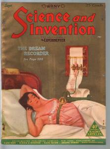 Science & Invention 9/1926-Gernsback-Dream Recorder-Cummings-Dunninger-FN-