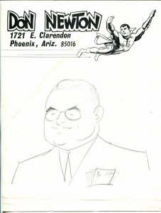 Don Newton Original Pencil Art-Sterling Morris-1973-