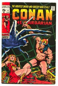 Conan The Barbarian #4 1971-Barry Smith VG+ Marvel