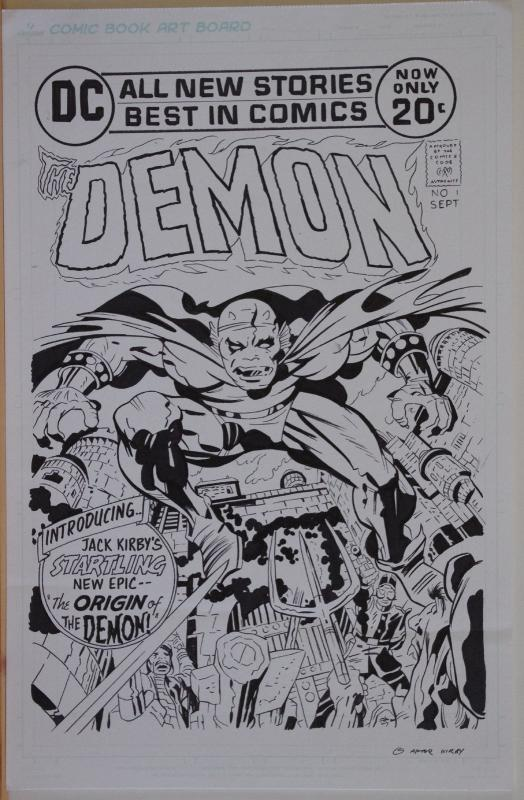 Original art, Jack Kirby DEMON #1 Cover Recreation, 11x17, more art in store