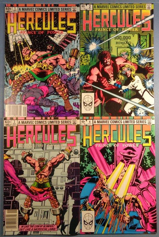 Hercules Prince of Power Lot #1 #2 #3 #4 Complete Series 1982