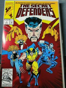 The Secret Defenders #1 and #2 Dr Strange, Wolverine,  Darkhawk and Spider Woman