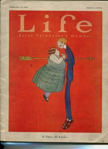 Life Magazine February 14 1924-SKIPPY COMIC-ELLISON HOOVER-VALENTINES DAY-vg