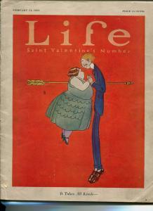 Life Magazine February 14 1924-SKIPPY COMIC-ELLISON HOOVER-VALENTINES DAY-vg
