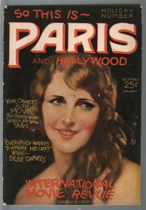 Paris and Hollywood #9 12/1925-Fawcett--Florence Gilbert-pin up pix-FN-