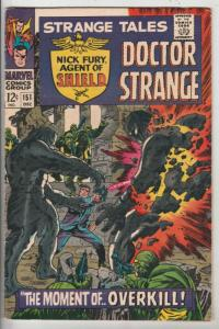 Strange Tales #151 (Dec-66) VF/NM High-Grade Nick Fury, Dr. Strange