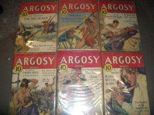ARGOSY PULP LOT 1932-PIRATES OF VENUS-RICE BURROUGHS VG+