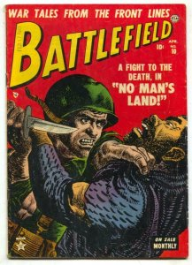 Battlefield #10 1953- Atlas War comic- commie cover FN-