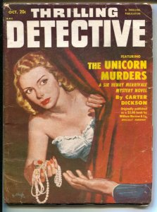 Thrilling Detective 10/1951-Good Girl Artvcover-Robert Turner-hardboiled pulp...