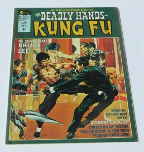 The Deadly Hands of Kung Fu #17 FN/VF 1975 Martial Arts Magazine Bruce Lee Cover