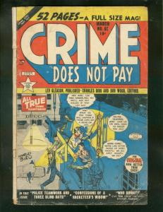 CRIME DOES NOT PAY #85 1950-CHAS BIRO-PRE CODE-VIOLENT! G