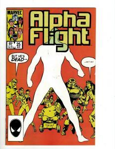 15 Alpha Flight Comics #25 26 27 28 29 30 31 32 33 34 35 36 37 89 Annual #1 JF4