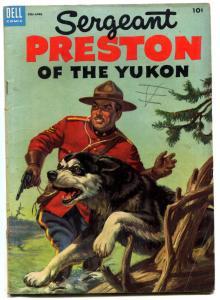 Sergeant Preston of the Yukon #10 1954 -Dell Western RCMP VG