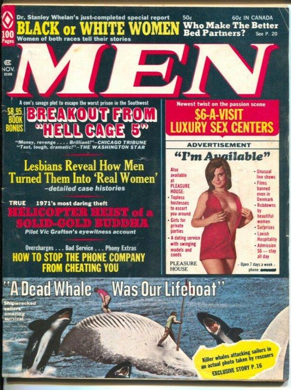 Men 11/1971-Pussycat by Bill Ward-killer whalesscandal-pulp thrills-cheesecake-V