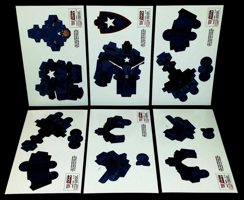 Build Your Own Captain America Paper Doll Set & Civil War II Preview - New!