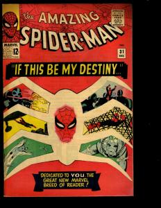 Amazing Spider-Man # 31 FN Marvel Comic Book Goblin Gwen Stacy Aunt May NE3