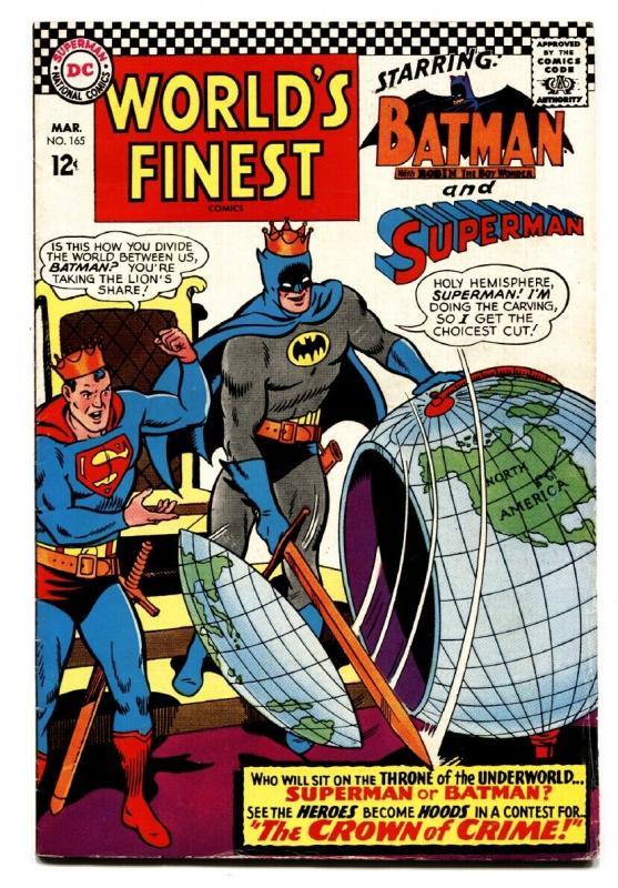WORLD'S FINEST #165 comic book 1967-BATMAN SUPERMAN