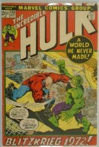 The Incredible Hulk #155 - 4.0 VG - 1972