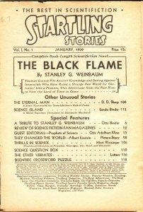 STARTLING STORIES PULP-#1-1939-ALBERT EINSTEIN-EANDO BINDER-OTIS A KLINE