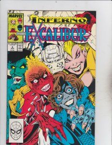 Marvel Comics Group! Excalibur! Inferno! Issue 6!