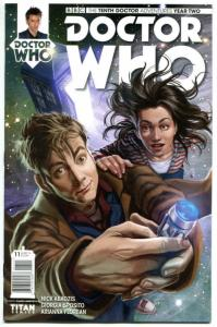 DOCTOR WHO #11 A, NM, 10th, Tardis, 2015, Titan, 1st, more DW in store, Sci-fi