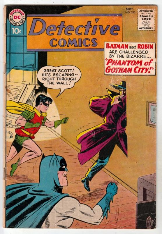 Detective Comics #283 (Sep-60) VG Affordable-Grade Batman