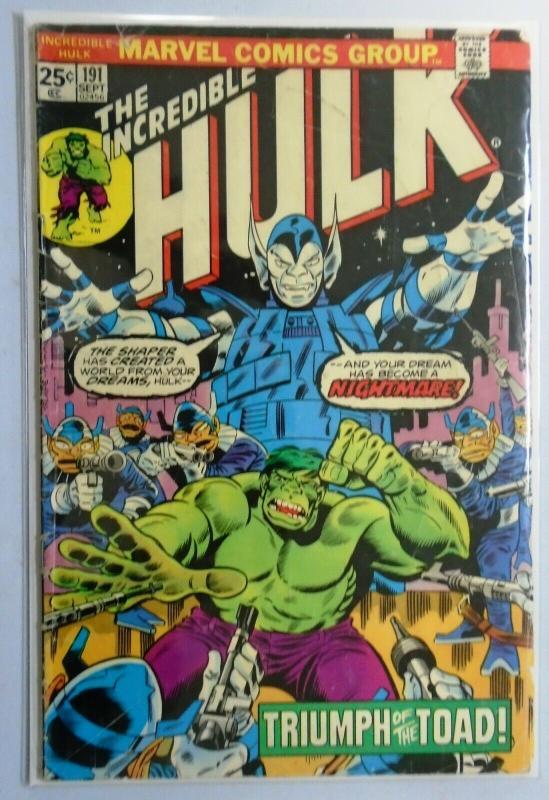 Incredible Hulk (1st Series) #191, 4.0 (1975)