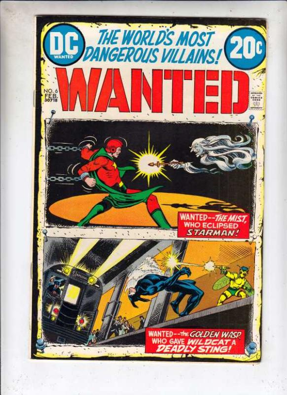 Wanted #6 (Feb-73) NM- High-Grade Starman, Wildcat
