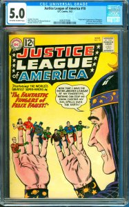 Justice League of America #10 CGC Graded 5.0 1st Appearance of Abnegezar, Fel...