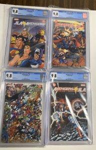 Avengers JLA 1 2 3 4 1-4 All Cgc 9.8 White Pages Set Run Lot