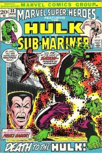 Marvel Super-Heroes (1967 series) #33, Fine+ (Stock photo)