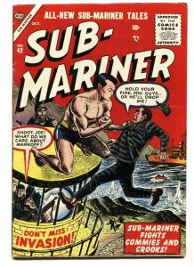 Sub-Mariner #42-Last issue-HARD TO FIND ATLAS comic book 1955