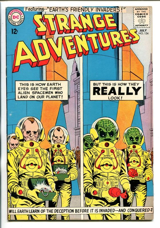STRANGE ADVENTURES #154 1963-DC-ALIENS COVER-fn