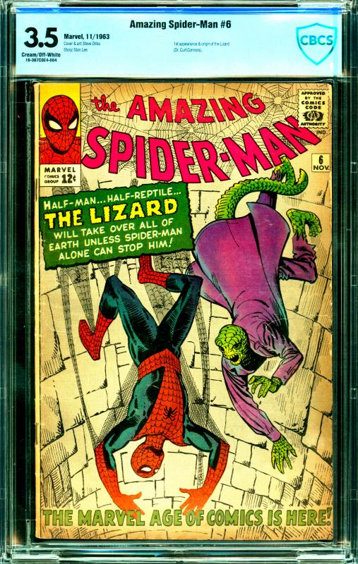 Amazing Spider-Man #6 CGC Graded 3.5 3rd 1st Appearance & Origin of the Lizard