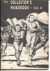 Collector's Handbook #4 1968-SFCA-Superheroes info-limited-VF-