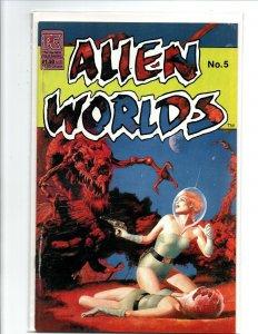 Alien Worlds #5 - sexy sci-fi girl - PC - 1983 - (-Near Mint)