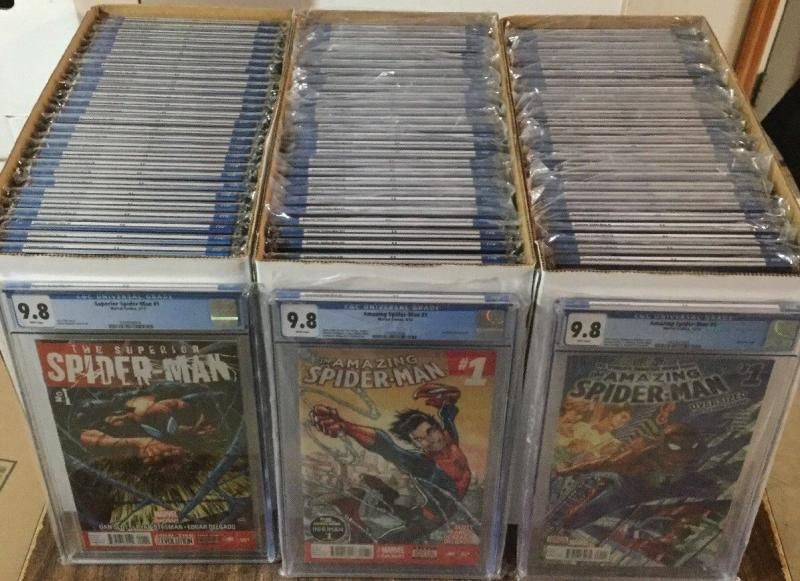 Amazing Spider-man 701-800 Cgc 9.8 Superior 1-33 1-18 1-32 789-800 1-5 Renew