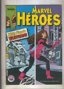Marvel Heroes numero 01: Kutty Pryde-Wolverine (numerado 3 en trasera)