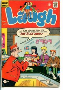 Laugh #200 1967-Archie-Betty & Veronica-soda shop-ice cream cover-VG