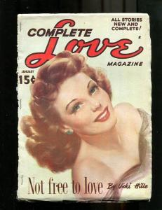 COMPLETE LOVE PULP-JAN-1950-GOOD GIRL ART-PIN UP COVER! FR/G
