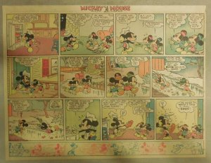 Mickey Mouse Sunday Page by Walt Disney from 12/14/1941 Half Page Size