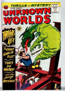 UNKNOWN WORLDS #46-1966-ACG-HORROR-WILD DRAGON COVER-FN+ FN+