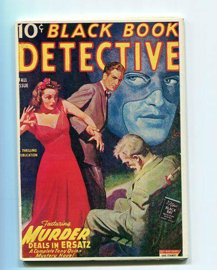 BLACK BOOK DETECTIVE-REPRODUCTION-LIMITED EDITION-MURDER DEALS IN ERSATZ-FALL