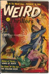 Weird Thrillers #5 1952-Ziff-Davis-pre-code horror-Bob Powell-Frank Giacoia-G/VG