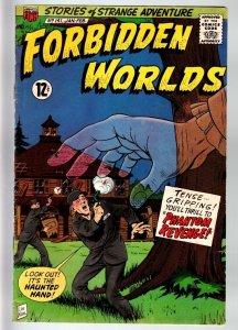 FORBIDDEN WORLDS #141-1967-SILVER-AGE SCI-FI-ACG-GHOST CVR-VG+ VG+