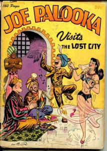 Joe Palooka Visits The Lost City #1 1945-Nedor-Ham Fisher-Spicy Girl art cover-P