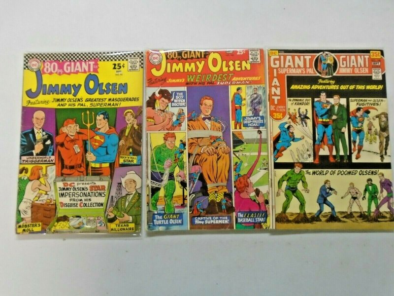 Bronze Age Jimmy Olsen Giant Size 3 Different 4.0 VG (1966-1971)