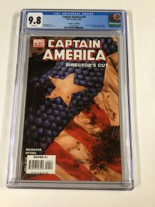 Captain America 25 Cgc 9.8 White Pages Directs Cut Variant Edition Marvel