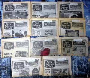 MOVIE COLLECTOR'S WORLD No. 653-667, 10 diff ; 1991 Vintage movie info