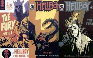 HELLBOY FURY (2011 DH) 1A,2-3  COMPLETE SERIES!